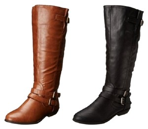 Madden Girl Winter Winter Cognac/Black/Grey Boots