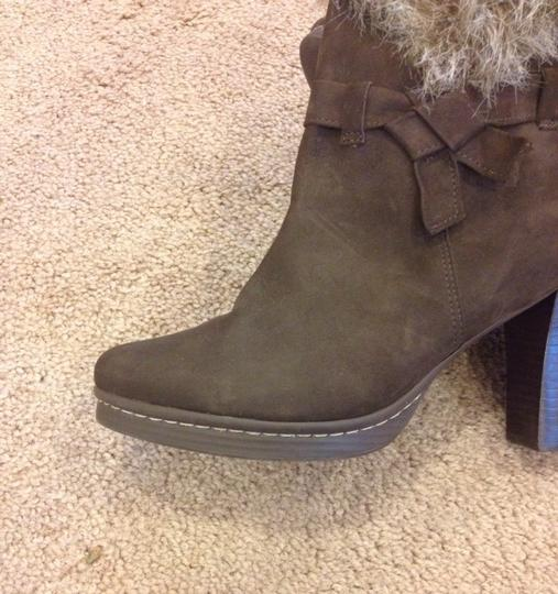 Klub Kico Designer Suede Faux Fur Neutral Classic Trendy Casual Weekend Fall Heel Ankle Stacked Heel Brazil 10 Trim Style 4