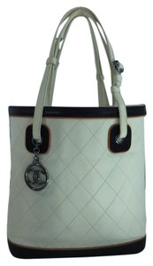 Chanel Quilted Lambskin Tote in Ivory