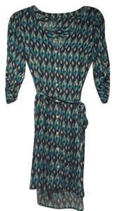 Lucky Brand short dress blue multi on Tradesy