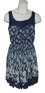 LC Lauren Conrad short dress navy, turquoise & white on Tradesy