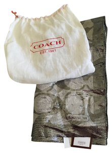 Coach Coach silk neck scarf