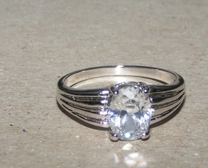 Oval Faceted Cut Solitaire Engagement Promise Ring Free Shipping
