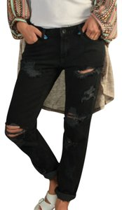 Signature 8 Boyfriend Cut Jeans-Distressed