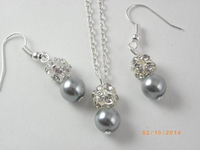 Item - Grey Pink Cream Sale Of 7 Necklaces and Earrings Of 7 Bridesmaid Necklaces Of 7 Bridesmaid Earrings Jewelry Set