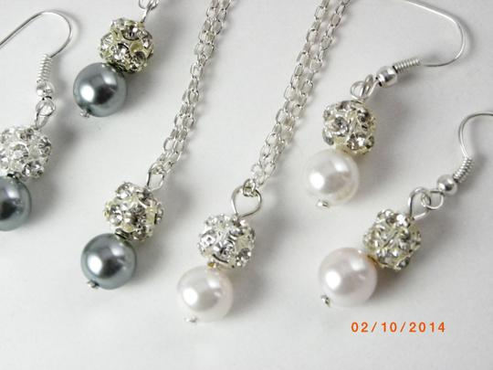 Grey Pink Cream Sale Of 7 Necklaces and Earrings Of 7 Bridesmaid Necklaces Of 7 Bridesmaid Earrings Jewelry Set