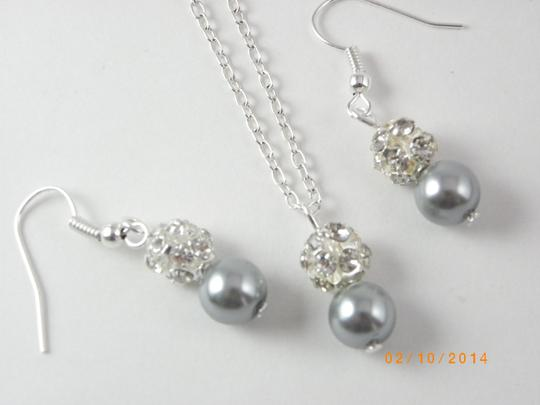 Grey Pink Cream Sale Of 7 Necklaces and Earrings Of 7 Bridesmaid Necklaces Of 7 Bridesmaid Earrings Jewelry Set Image 5