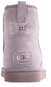 UGG Australia Crystal Bow Heathered Lilac Boots