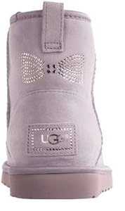 UGG Australia Classic Mini Crystal Bow Uggs Classic Mini Crystal Bow Uggs With Crystal Uggs Crystal Bow Heathered Lilac Boots