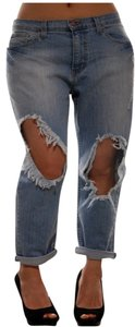 Other Denim Pants Destroyed Distressed Ripped Ripped Boyfriend Cut Jeans-Distressed