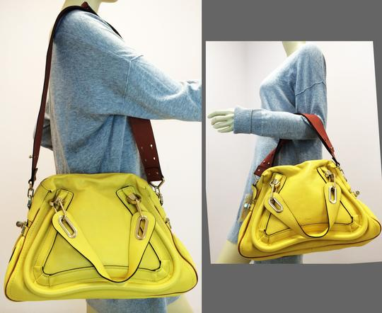 Chloé Leather Shoudler Paraty Satchel in yellow Image 1