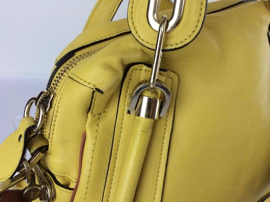 Chloé Leather Shoudler Paraty Satchel in yellow Image 10