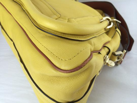 Chloé Leather Shoudler Paraty Satchel in yellow Image 11