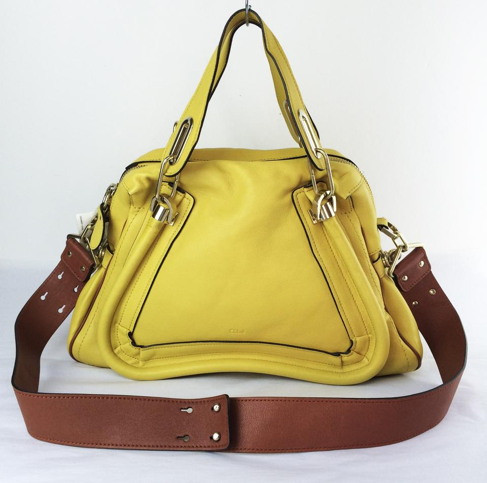 02b28933dcf0 Chloé Paraty Military Runway Shoulder Yellow Leather Satchel - Tradesy
