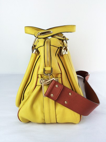 Chloé Leather Shoudler Paraty Satchel in yellow Image 3