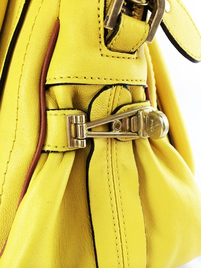 Chloé Leather Shoudler Paraty Satchel in yellow Image 4