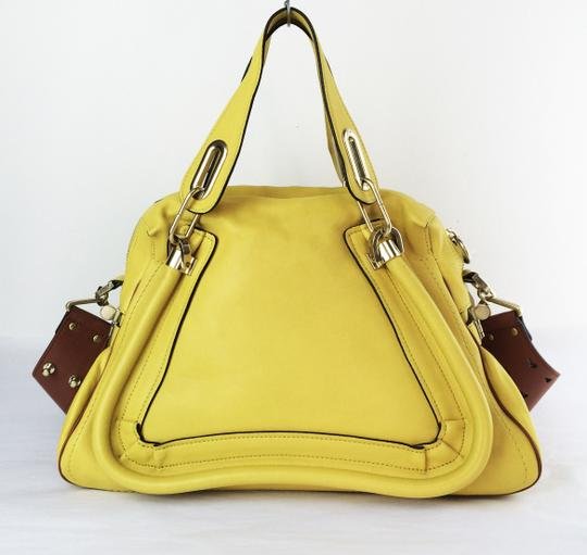 Chloé Leather Shoudler Paraty Satchel in yellow Image 9