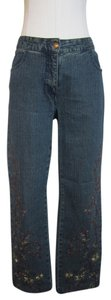 Betsey Johnson Straight Leg Jeans-Light Wash