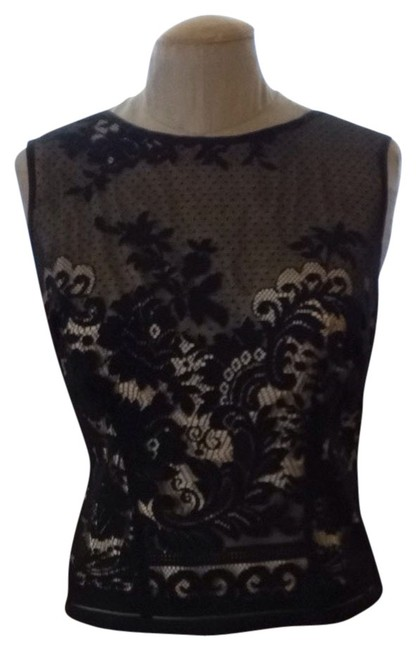To the Max Top Black With Beige Illusion