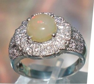 Other Sterling Silver Opal Gemstone Ring