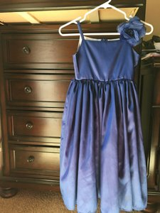 Navy Flower Girl Taffeta Dress