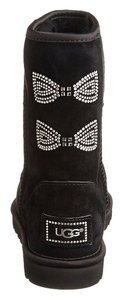 UGG Australia Uggs With Crystals Classic Short Crystal Bow Black Boots