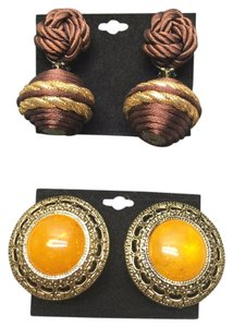 Other Vintage Earring Duo ( Clip - Non Pierced ) [ Roxanne Anjou Closet ]