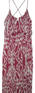 Magenta and White Maxi Dress by Old Navy