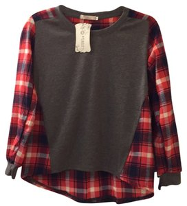 Jin guanye Top Red plaid