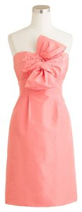 J.Crew Coral Bow Monde Guava Dress