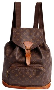 Louis Vuitton Monogram Canvas Montsouris Leather Gm Classic Weeked Travel Backpack