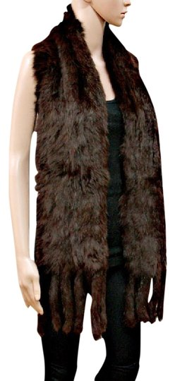 Other Genuine Fur Scarf Wrap Chocolate Brown Neckwarmer Image 0