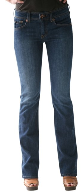 gridlock denim Straight Leg Jeans-Dark Rinse