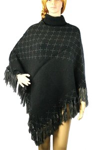 Other Turtleneck Turtleneck Fringed Fringed Shawl Wrap Cape