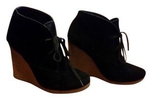 ALDO Suede Bootie black and brown Wedges