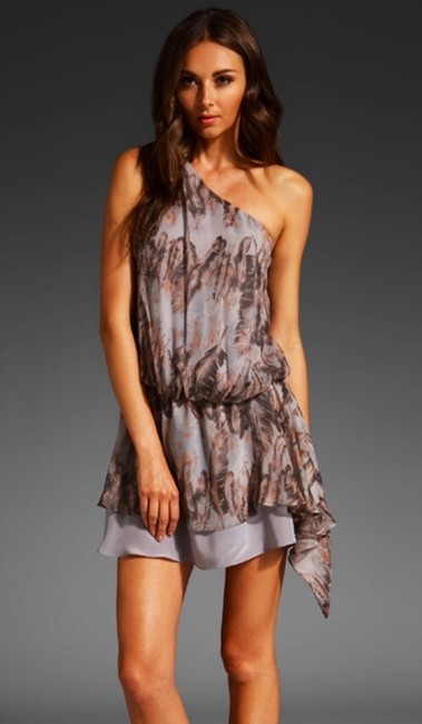 Rory Beca Mini One Shoulder Silk Dress
