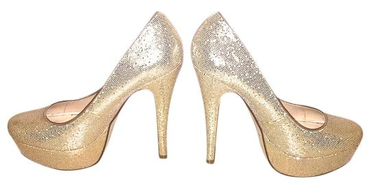 ALDO Heels Heels Jimmy Choo Jimmy Choo Jimmy Choo Heels Sequins Sequins Heels Saint Laurent Platforms Platforms Champagne Glittery Gold Pumps Image 0