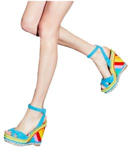 Valentino Rockstud Wedge 1973 Multi Rainbow Wedges