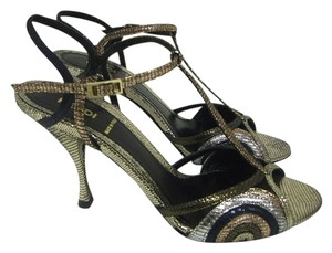 Fendi Black Evening Black/ Metallic Sandals