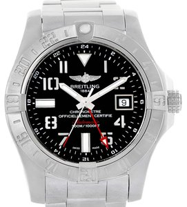 Breitling Breitling Aeromarine Avenger II GMT Black Dial Watch A32390 Box Papers