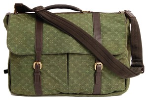 Louis Vuitton Mini Lin Monogram Messenger Khaki Messenger Bag