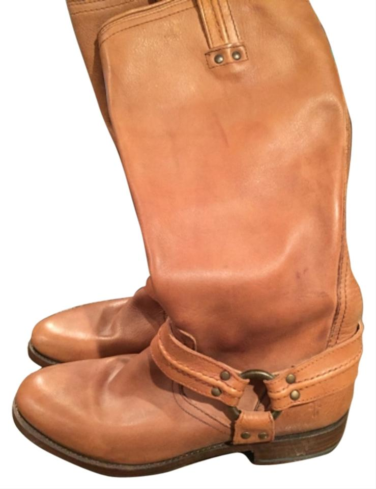 LADY Frye and Camel Brown Boots/Booties Clever and Frye practical 3bd8c9