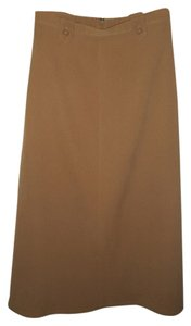 Coldwater Creek Suede-like Soft Skirt Tan