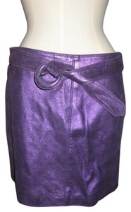 Versace Couture Rock And Roll Gianni Mini Skirt Purple