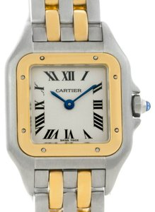Cartier Cartier Panthere Ladies Steel 18K Yellow Gold 2 Row Watch W25029B6