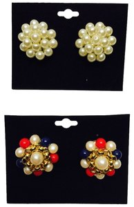 Other Vintage Pearl Earring Duo ( Pierced & Non-Pierced Convertible Kit ) [ Roxanne Anjou Closet ]