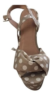 Forever 21 Tan with white polka dots. Wedges