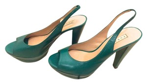 Pura Lopez Emerald Green Pumps
