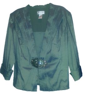 Carol Lin Special Occassion Two Piece Top Iridescent Green