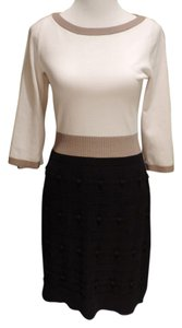 Ann Taylor short dress Cream and Black on Tradesy